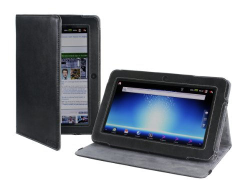 Cover-Up Advent Vega Tablet (Version Stand) Leather Cover Case - Black (NOT suitable for Advent Vega Tegra Note)