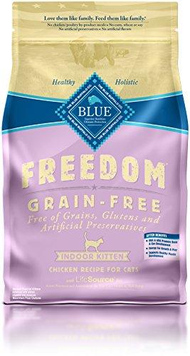 Blue Buffalo Freedom Kitten Indoor Chicken Formula Dry Cat Food, 5 lb Bag