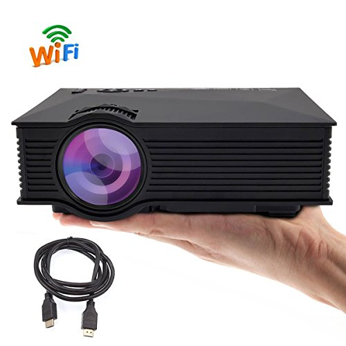 TRONFY Wireless Projector 800x480 Full Color 130 Mini LED Portable LCD Video Projector with Free HDMI cable Support Miracast Airplay DLNA