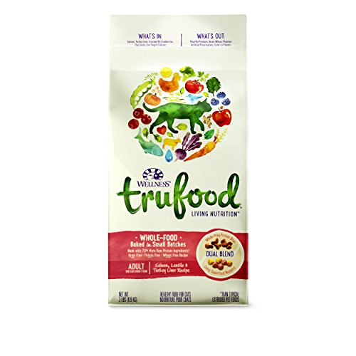 Wellness TruFood Baked Blends Natural Grain Free Dry Raw Cat Food, Salmon & Turkey Liver, 2-Pound Bag