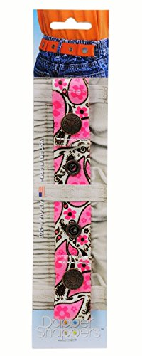 Dapper Snappers Adjustable Elastic Belt for Children and Toddlers - Pink Paisley