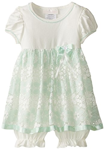 Bonnie Baby Baby Girls' Mint Lace Coverall Dress