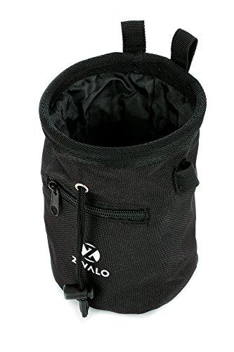 Zivalo Chalk Bag with Drawstring Closure, Belt and Zipper Pocket - For Rock Climbing, Weight Lifting, Bouldering, Gymnastics & CrossFit - Lifetime Guarantee