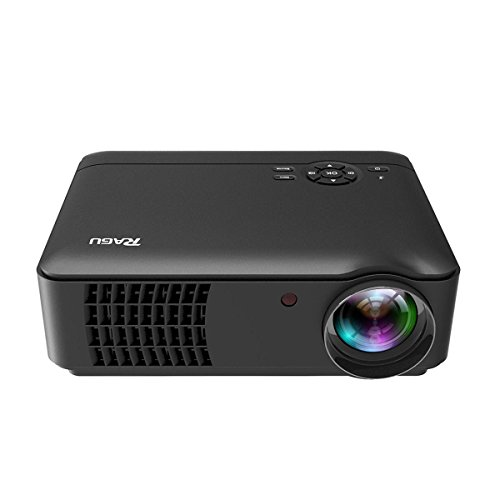 Projector, RAGU RG-01 Projector 1280*768 Resolution Support 1080P Video for Home Movie by USB HDMI VGA SD AV