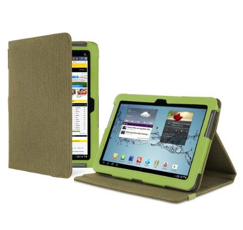 Cover-Up Samsung Galaxy Tab 2 10.1 Tablet (P5100 / P5110) Version Stand Natural Hemp Case - (Khaki Green)