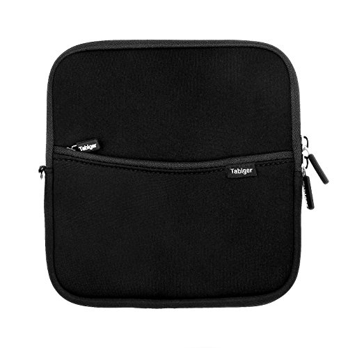 Tabiger Shockproof External USB CD Drive Neoprene Protective Storage Carrying Sleeve Case Pouch Bag With Extra Storage Pocket for External USB CD DVD Blu-Ray Drivers & Hard Drive