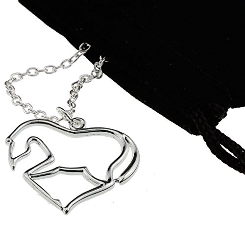 Amazing Silver Heart Horse Pendant Necklace Crazy My Little Pony Lover Jewelry Girl Woman Teen Christmas Gift