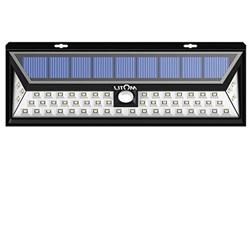 Litom Super Bright Solar Lights 54 LED Solar Energy Power Outdoor Motion Sensor Lights for Driveway Yard Garden Wild Angle Lighting