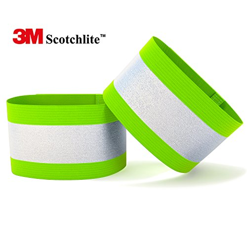3M Scotchlite Reflective Arm Bands (pair): #1 Recommended Reflective Arm Bands for Running, Cycling, Walking and Hiking - Elastic, Lightweight, Adjustable and High Visibility of up to 1000 feet - 3M Scotchlite is the leader in High Performance Reflective Material