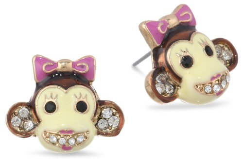 Betsey Johnson A Day at the Zoo Monkey Stud Earrings