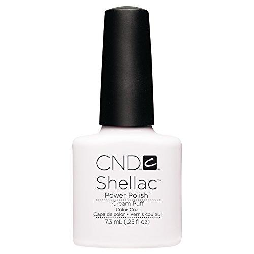 Creative Nail Design Shellac UV Color Coat Cream Puff .25oz