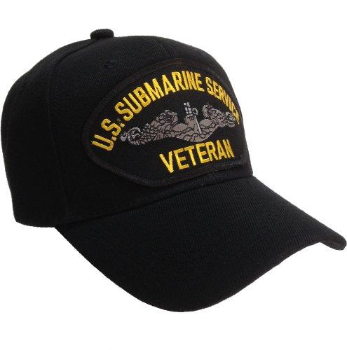 U.S. Submarine Service Veteran Ball Cap Hat US Navy - Black