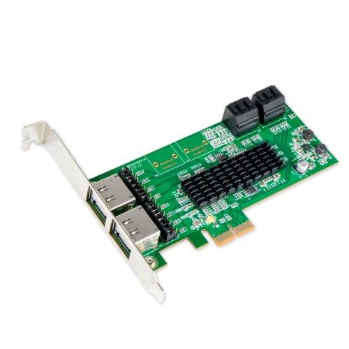 IO Crest SI-PEX40072 4 Port SATA III or 4 Port eSATA III PCIe X2 Controller Card