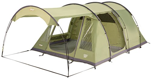 Vango Odyssey 500SC Tent with Sun Canopy - Epsom Green, 5 Persons