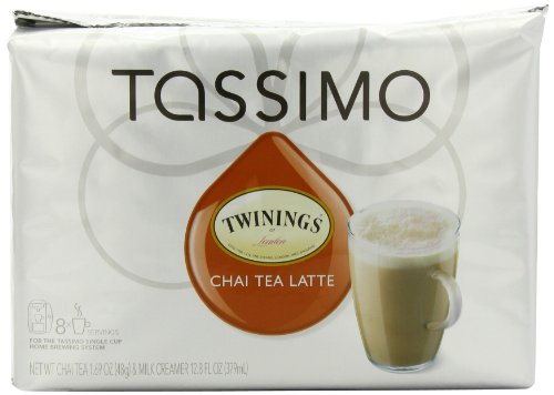 Twinings Chai Tea Latte (8 Servings), 16-Count T-Discs for Tassimo Coffeemakers (Pack of 2)