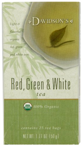 Davidson's Tea Red, Green & White Blend, 25-Count Tea Bags (Pack of 6)