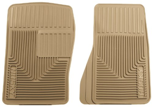 Husky Liners 51073 Semi-Custom Fit Heavy Duty Rubber Front Floor Mat - Pack of 2, Tan