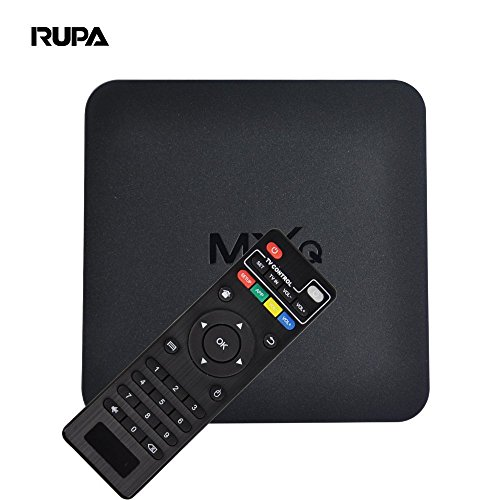 RUPA MX Amlogic S905 4K TV Box Pre-installed Android 4.4 1G/8G WIFI LAN Quad Core 1080P KODI DLNA AirPlay Miracast