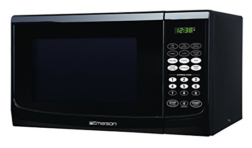 Emerson MW9255B, 0.9 CU. FT. 900 Watt, Touch Control, Black Microwave Oven