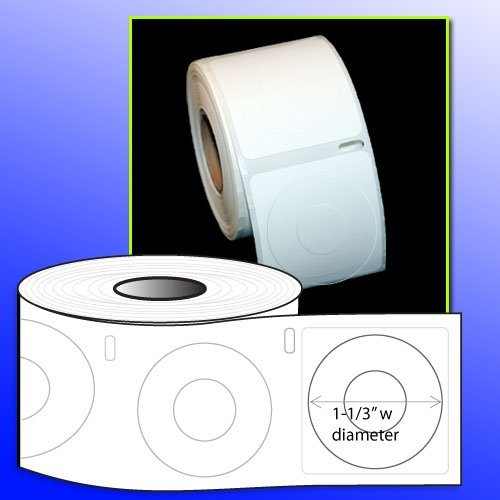 OfficeSmart 1-1/4 Diameter CD/DVD Core Labels (320 labels) Dymo 30886 Compatible