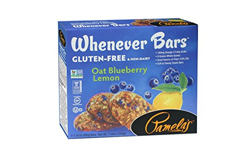 Pamela's Products Gluten Free Whenever Bars, Blueberry Lemon, 7.05 Ounce