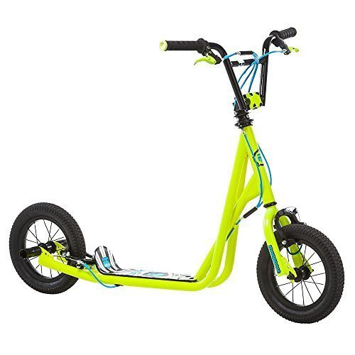 Mongoose Kids Air Tire Scooter, Neon Yellow