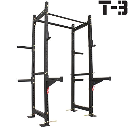 Titan T-3 Series HD Power Rack Spotter Arms Squat Deadlift Lift Cage cross fit