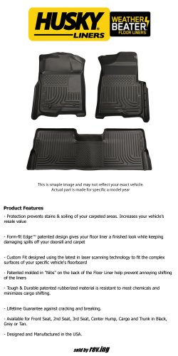 2007 - 2013 GMC Sierra 3500 HD - Husky Liners - WeatherBeater - Floor Liners - Front and Rear