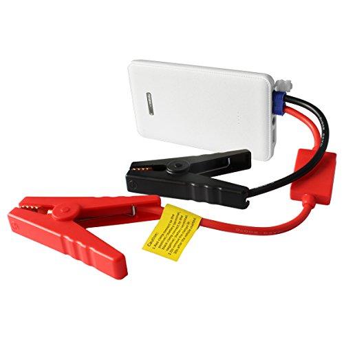 LeFun™ Otium Q1 8000mAh Multi-Functional Portable Power Bank And Car Jump Starter Emergency Built-in LED Flashlight SOS Flashing (White)