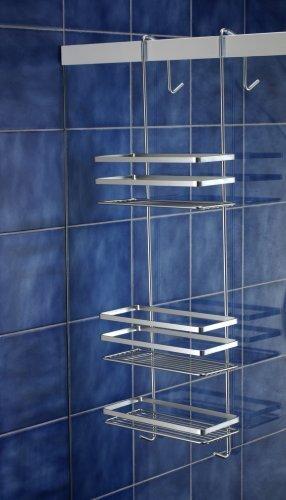 Satina Chrome Hanging Shower Cubicle Tidy Swedish Made 79cm by Norwood