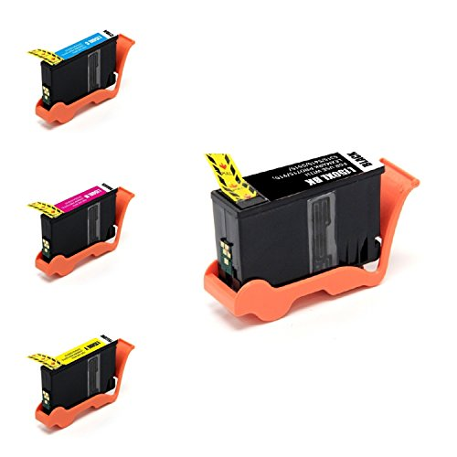 4pk Lexmark 150XL Black Cyan Magenta Yellow Inkjet Compatible with Pro 715 915 Pro715 Pro915