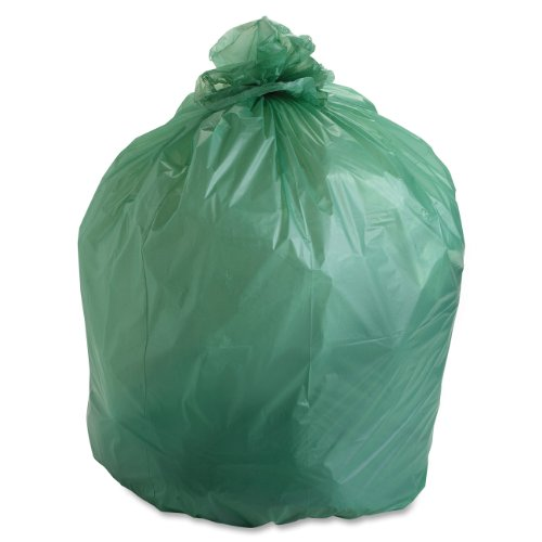 Stout EcoSafe-6400 Compostable Bags, 1.1 Milliliters, 30 x 39, Green, 48/Carton (E3039E11)