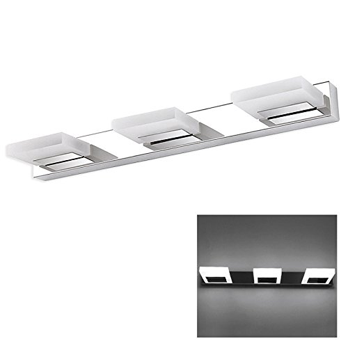 Dailyart 9W Stainless Steel LED Mirror Light. 3825 SMD. Cool White. Wall-mounted. Energy-saving [One beautiful gift for you!]