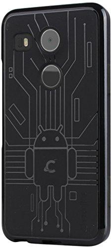 LG Nexus 5X Case, Cruzerlite Bugdroid Circuit Case Compatible for LG Nexus 5X - Black