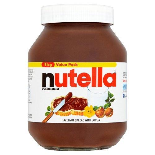 FERRERO Nutella Hazelnut Chocolate Spread, 1kg
