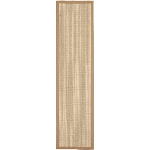 Safavieh Natural Fiber Collection NF442D Hand Woven Tan Jute Runner, 2 feet by 6 feet (2' x 6')