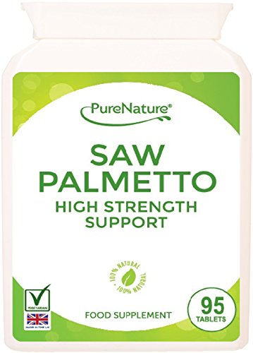 95 Saw Palmetto 3000mg High Strength Superior Grade Tablets - Full 3 Month Supply-100% QUALITY ASSURED MONEY BACK GAURANTEE - FREE UK DELIVERY