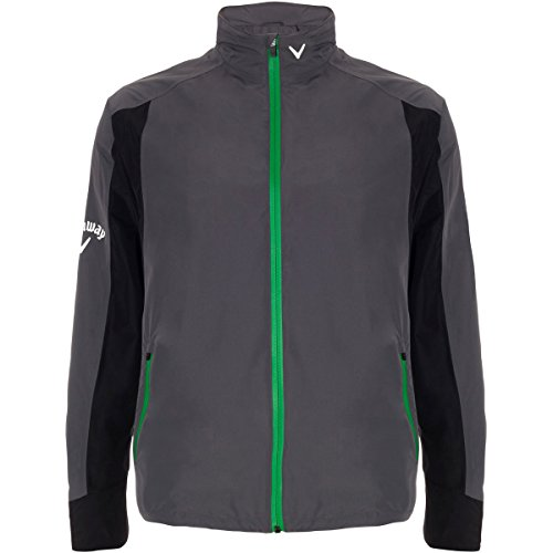 2015 Callaway Green Grass Weather Series Mens Waterproof Golf Rain Jacket Castlerock Small