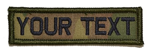Customizable Text 1x3.75 Patch w/Velcro - Military/Morale
