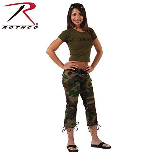 Woodland Camouflage Capri Pants (Womens) 1040 Size 13-14 Regular