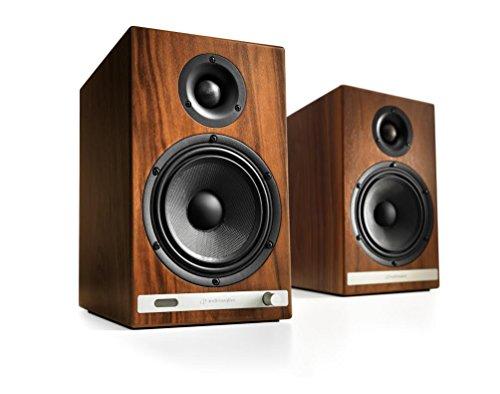 Audioengine HD6 Powered Bookshelf Speakers (Pair) Walnut