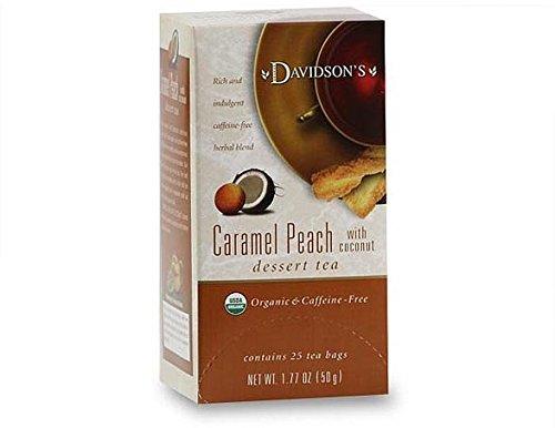 Davidson's Tea Caramel Peach with Coconut, 25 Count Tea Bag