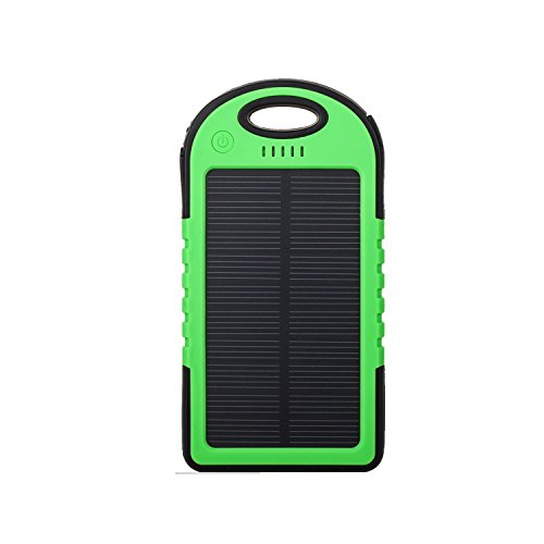 Expower 6000mAh Solar Panel Waterproof Shockproof Portable Charger for iPhone 4/4S/ 5/5C/5S/6/iPods - Green