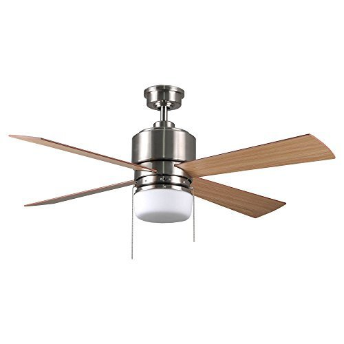 Cocoweb 52 AC Motor Ceiling Fan - Cunningham - Reversable motor, pre-installed light kit, pull cord controlled fan speed and lamp, multiple speeds, energy efficient - CF-A-CU