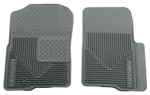Husky Liners 51232 Semi-Custom Fit Heavy Duty Rubber Front Floor Mat - Pack of 2, Grey