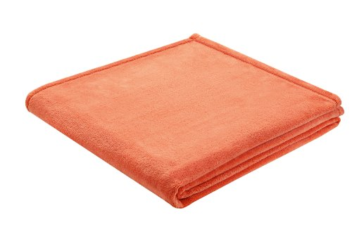 B@Home Biederlack 150 x 200 cm King-Fleece Uni Blanket/ Throw, Apricot
