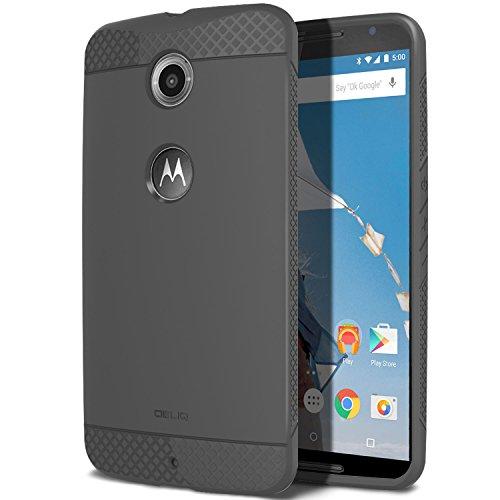 Nexus 6 Case, OBLIQ [Flex Pro][Gray] - [Non-Slip Slim Fit] Shock Resistance Soft TPU Jelly Cases - Best Google Nexus 6 cover