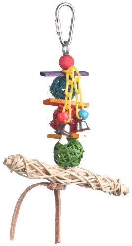 Super Bird Creations 6 by 5-Inch Vine Twist T-Bar Swing Bird Toy, Small