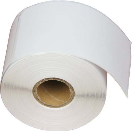 OfficeSmart 2-1/4 x 4 Inches Badge with Adhesive Labels, 250 Labels Per Roll, Compatible with Dymo LabelWriter (30857)