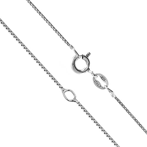 Sterling Silver 0.8mm 16-20 Adjustable Box Chain
